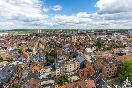 View of the city of Leuven from the university library tower
