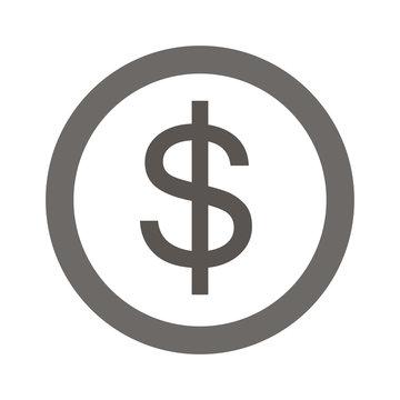 dollar coin.vector