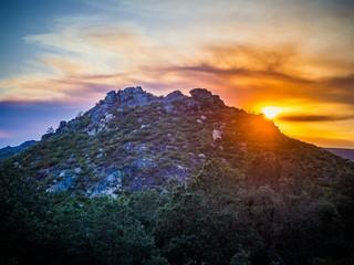Printed kitchen splashbacks Beige Beautiful scenery of the breathtaking sunset at Montesinho Natural Park in Portugal