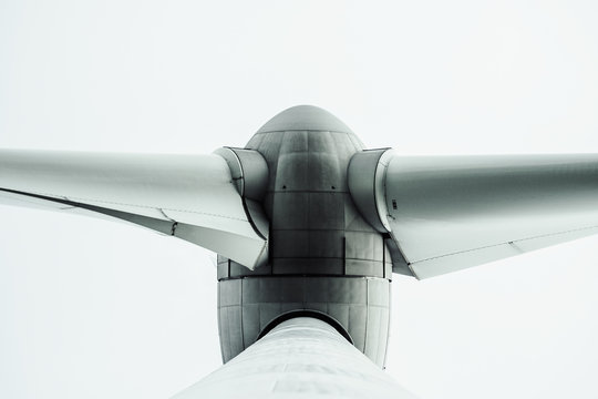 Cropped Image Of Windmill Against White Background