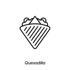 quesadilla icon vector. quesadilla icon vector symbol illustration. Modern simple vector icon for your design. quesadilla icon vector.