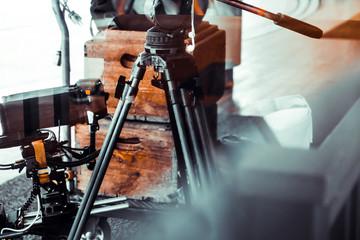 Film crew equipment, Detail image of Tripod background