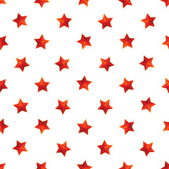 red stars with golden borders on a white background seamless pattern. perfect background for military or patriotic holiday illustration