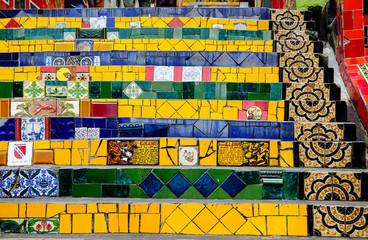 elements of Selaron steps in Rio de Janeiro