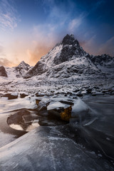 Ice cracks Lofoten