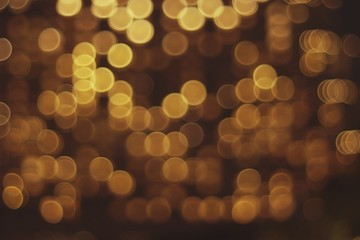 Defocused Image Of Christmas Lights