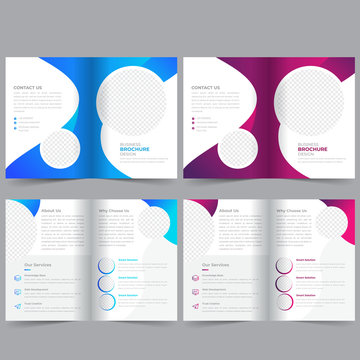 Business Bifold Brochure Template