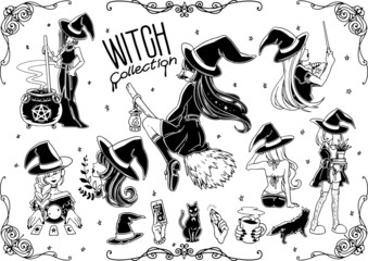 Witch vector set