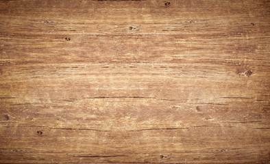 Canvas Prints Countryside Wood texture background. Top view of vintage wooden table with cracks. Light brown wooden surface with natural color, texture and pattern.