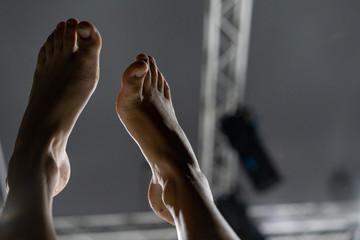 dancer foot, contact improvisation