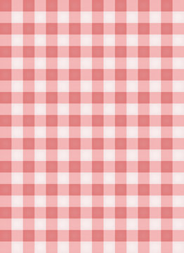 Pink table cloth. vector illustration