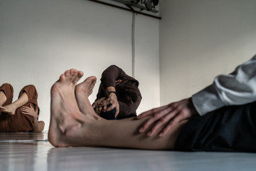 dancer foot, contact improvisation