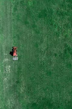 Truck Mowing Grass