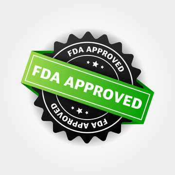 FDA approved banner design over a white background.