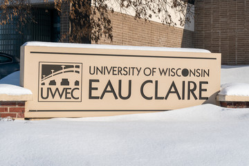 Entrance sign to the University of Wisconsin-Eau Claire