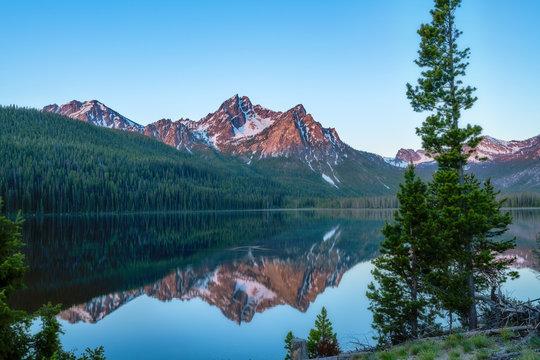 Stanley Lake and McGown Peak near Stanley Idaho