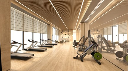 3d render of fitness gym center