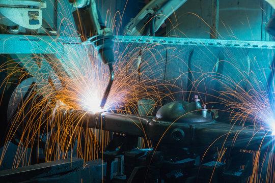 Sparks At Metal Industry