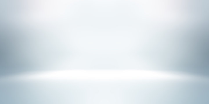 soft white and gray studio room background, grey floor backdrop with spotlight.