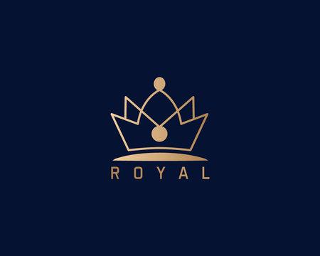 Luxury Royal Crown Logo Design Full Vector