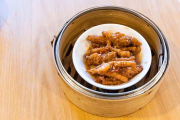Steamed chicken feet or phoenix claw, popular Chinese dim sum