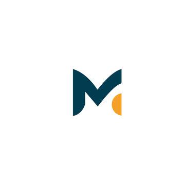 M logo design icon concept