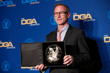 """Spike Jonze, director of """"Dream It, Squarespace, The New Normal, Medmen"""" poses at the 72nd Annual Directors Guild Awards in Los Angeles"""