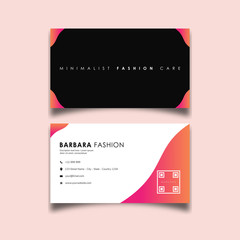 Beauty fashion design business card Template vector