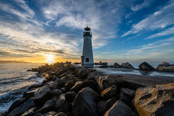 Breakwater Lighthouse at Sunrise