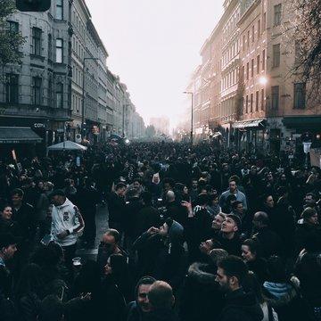 Crowd At City Street
