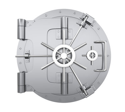 Bank Vault Door Isolated