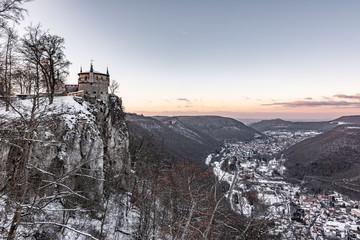 VIew from Castle Lichtenstein in winter