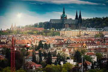 Prague City View with Buildings -Czech Republic, Czechia