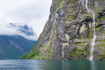 Waterfall in the Geirangerfjord, Norway