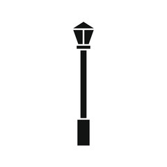 vector icon, street lamp shape