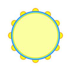 vector icon, tambourine musical instrument shape