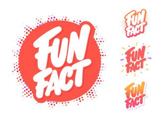 Fototapeta Fun fact. Vector lettering set.