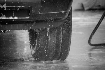 truck at the carwash