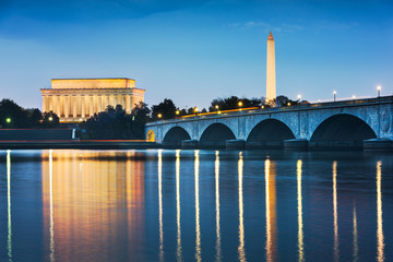Wall Mural - Washington DC, USA Skyline on the River