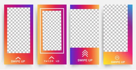 template instagram vector. frame  vector. design instagram card set vector