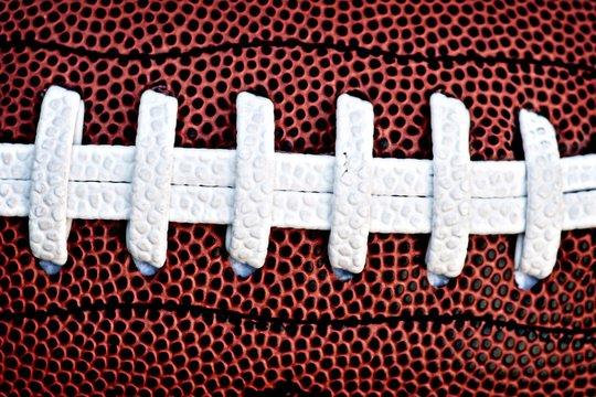 Close-Up Of American Football Ball