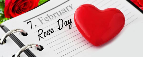 Calendar and Rose Day February 7