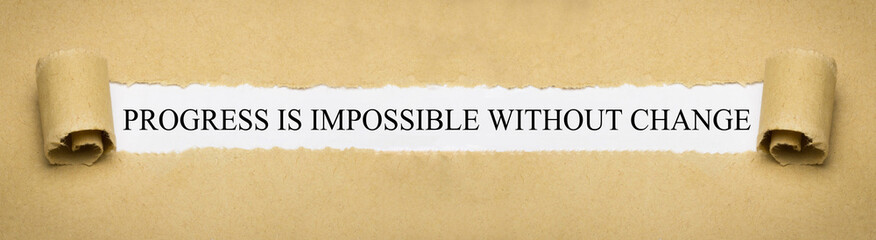 Progress is impossible without change Fotomurales