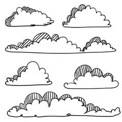 doodle cloud illustration hand drawn vector