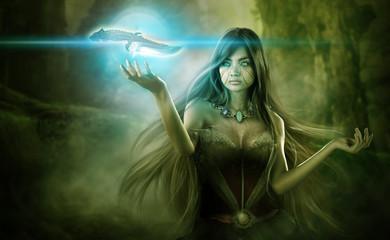 Fantasy background illustration photo manipulation for digital imaging