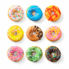 Various colourful donuts
