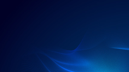 Dot blue wave light screen gradient texture background. Abstract  technology big data digital background. 3d rendering.