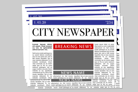 newspaper pack mock up blank page vector