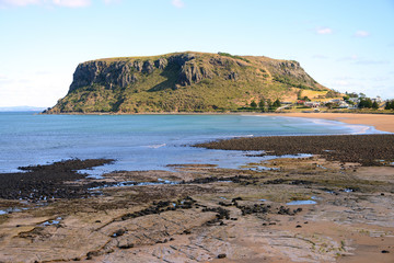 Tourist attraction and destination The Nut, Stanley, Tasmania, Australia
