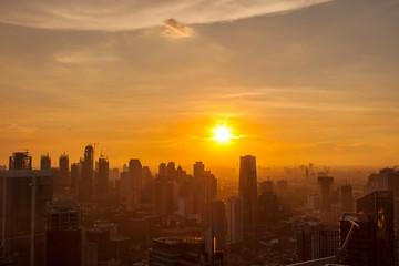 Fototapeta JAKARTA CITYSCAPE AT SUNSET